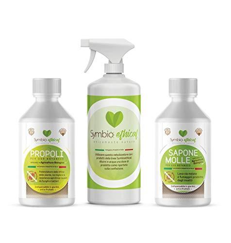 Symbioethical Kit Protezione Naturale: PROPOLI 500ml - Sapone Molle 500ml - NEBULIZZATORE - Agricoltura Biologica