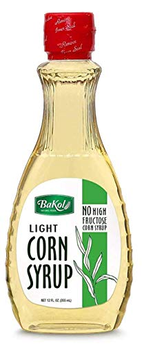Bakol Light Corn Syrup, 12 FL Oz (355 mL) - Multi-Purpose Simple Syrup for Pancake, Barbecue, Ham, Baked Vegetables, Fruits, and More - No High Fructose Corn Syrup for Candy, Kosher Certified