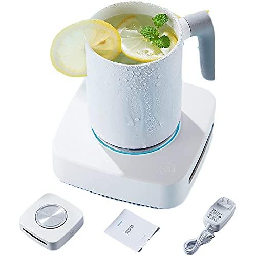 ESGT 2 in 1 Schnellkühltasse, 3 Kühlmodi, Kaffee-Tee-Getränke-Becherwärmer-Kühler Desktop-Heizung & Kühlung Getränkeplatte für Wasser, Milch, Bier
