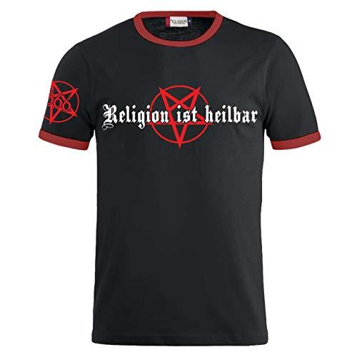 Männer und Herren T-Shirt Religion ist heilbar Größe S - 8XL
