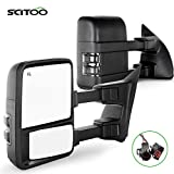 SCITOO Towing Mirrors fit for Ford High Perfitmance Automotive Exterior Mirrors fit 1999-2002 F250 F350 F450 F550 Super Duty with Power Adjusted Heated Manual Telescoping Features