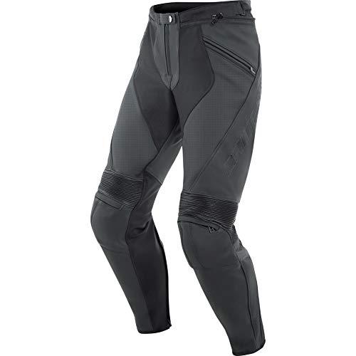 Dainese Motorradhose Pony 3 Lederhose perforiert schwarz 46 (S), Herren, Sportler, Ganzjährig