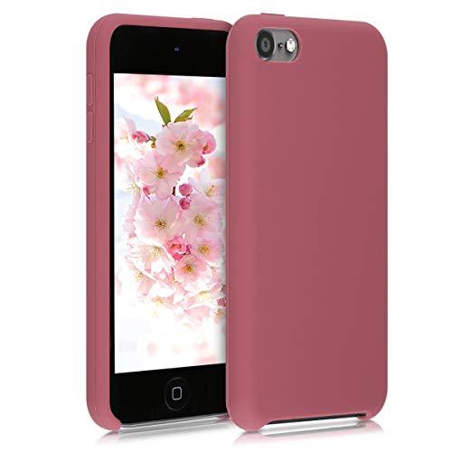 kwmobile Carcasa Compatible con Apple iPod Touch 6G / 7G (6a y 7a generación) - Funda Protectora de Silicona - Case Trasero en Rosa Antiguo