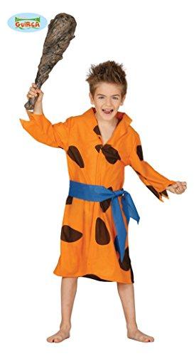 Costume vestito Fred Flintstone carnevale bambino taglia 7-9 anni
