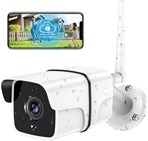 Security Camera Outdoor Yamla 1080P WiFi Home Security Surveillance Camera Works with Alexa product image
