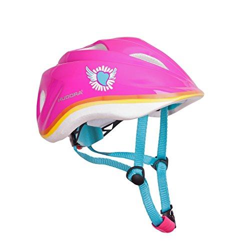 HUDORA Fahrrad-Helm Kinder Mädchen Skate Wonders, Gr. 52-56, 84030