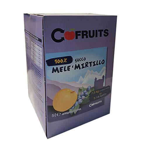 Succo di mela e mirtillo 100% Box lt 5 Valle d'Aosta