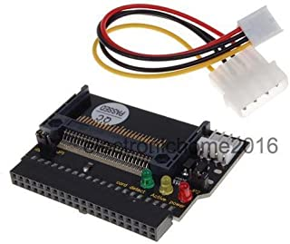 Generic Dual Compact Flash CF I/II to 3. 5 IDE HDD Adapter with 3 LED Indicator