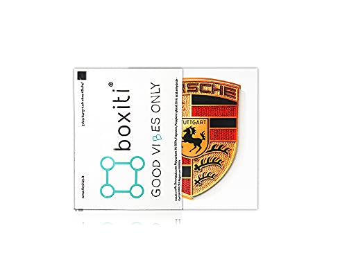 Genuine Crest sticker of Porsche Logo (65mm X 53mm) including wipe - GT3 RS 4.0/GT2 Style Porsche Emblem logo Sticker