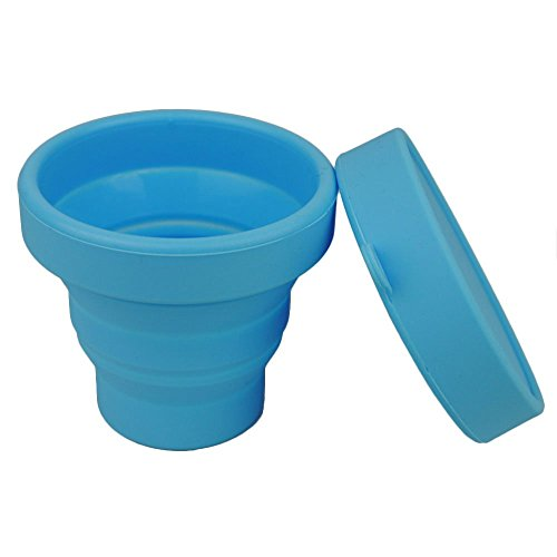 Merssavo Portable en silicone pliable Tasse Bol télescopique pliable de voyage Camping Outil bleu
