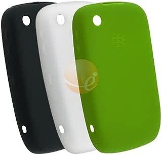 Blackberry Curve 8520 Green Silicone Skin Case [OEM] HDW-24211-008 + Black Silicone Skin Case [OEM] HDW-24211-001 + Clear White Silicone Skin Case [OEM] HDW-24211-003