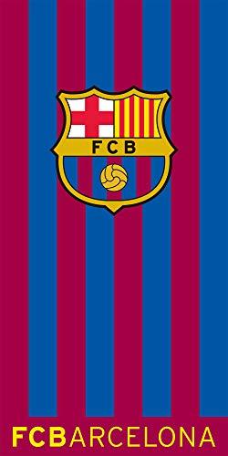 FC Barcelona Badetuch Bordeaux Blau 100% Baumwolle Velours Fussball Messi ter Stegen Strandtuch Primera Division Fan Strandlaken Badelaken Stadion Camp Nou Saunatuch Duschtuch FCB zur Bettwäsche 426