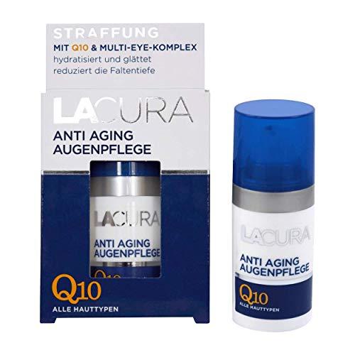 Lacura Anti Aging Augenpflege mit Q10 reduziert die Faltentiefe mildert Krähenfüße 1er-Pack (1x15ml)