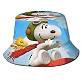 Sn-oopy Valentine Pilot Sombrero de Pescador de Dibujos Animados protección UV de Verano Sombreros de Cubo de Viaje Gorra de Sol Plegable de Playa para Hombres y mujeres-31