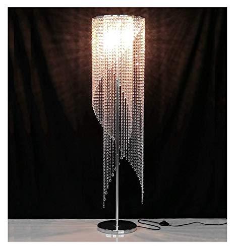 Europese luxe kristallen vloerlamp, romantische en warme creatieve slaapkamer woonkamer verlichting vloerlamp