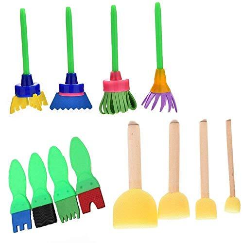 Schwamm Pinsel-Set, Zeichnen Werkzeuge Malen Schwamm Bürste für Vorschul Kinder Art Lehre und Creative Stempel Blumen Graffiti Schwamm Pinsel DIY Art Malerei Werkzeuge