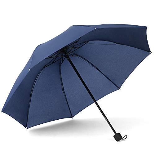 NFRADFM Paraguas para mujer, tres paraguas plegable a prueba de viento, paraguas de viaje para hombre y mujer, paraguas portátil