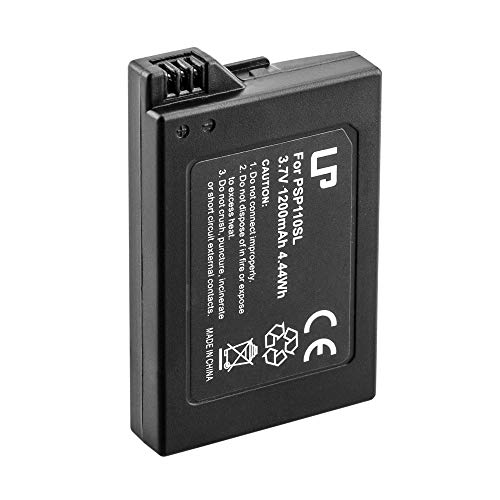 PSP S110 Battery, LP 1-Pack 3.7V 1200mAh Li-ion Rechargable Battery, Compatible with Sony Playstation PSP 3000, PSP 2000 Series, PSP Lite, PSP Silm, PSP-S110 Console