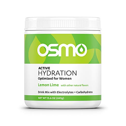 Osmo Nutrition Active Hydration Mix | Optimized for Women | Electrolyte Powdered Drink | Avoid Premenstrual Performance Decline | Improve Power & Endurance | All Natural | Lemon Lime | 40 Servings