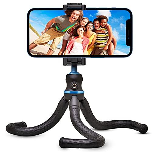 Flyroy | Smartphone-Stativ | Handystativhalter | Octopus-Dreibeinstativ verstellbar und verschiebbar, tragbar | geeignetes Stativ für Kamera, Canon, iPhone und alle Arten von Handys