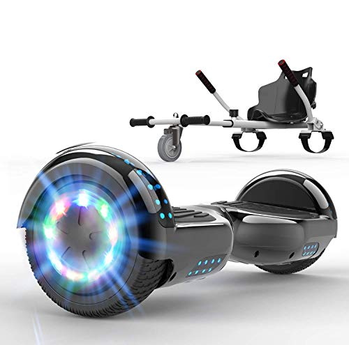 SOUTHERN WOLF Hoverboard autoequilibrado, Scooter eléctrico con Luces LED, Scooter autoequilibrado de...
