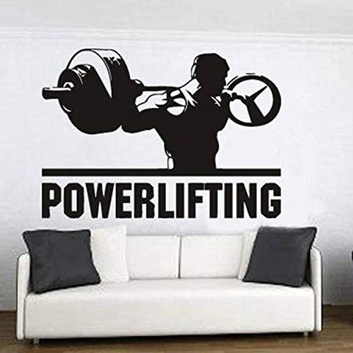 Powerlifting Wandaufkleber Home Decor Muskel Starke Kraft Mann Motivation Workout Gym Vinyl Aufkleber Fitness Sport Bodybuilding Kunst Wandbild Poster