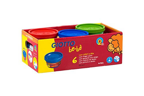 Giotto be-bè 468100 - Pintura de dedos, 6 botes de 100 ml