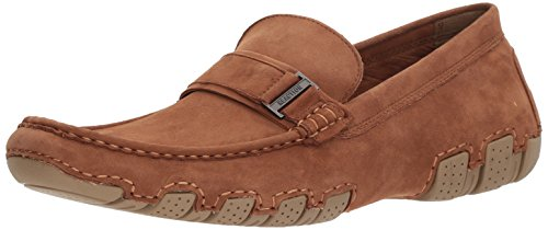 Kenneth Cole REACTION Men's Later Driver B Loafer, Rust, 7.5 M US