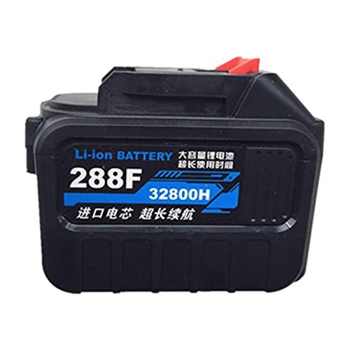 HENGX Batería de Sierra de Cadena Eléctrica / 21V / Batería de Litio Recargable/Corte de Corte/Batería de Motosierra de Taladro de Percusión,32800H-288F