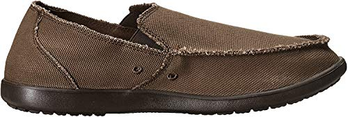 Crocs Men's Santa Cruz Loafer | Comfortable Men's Loafers | Slip On Shoes, Espresso/Espres, 11 US Men