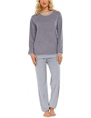 Schiesser dames tweedelig pyjama pak lang, 1/1 arm