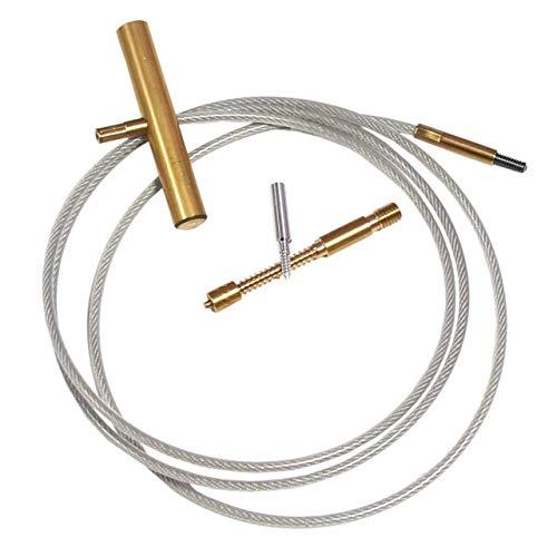 BALLISTOL Flex-Clean Stahlseil zur Waffenreinigung inkl. Filz-Adapter Kaliber .17 - Kaliber .12 Schrot