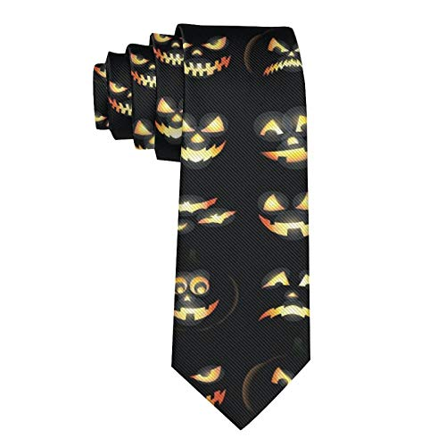 NiYoung Men Necktie Ties, Paisley Necktie, Luxury Slim Ties, Casual & Formal Ties for Wedding, Business, Party, Novelty Extra Long Ties Necktie, Halloween Pumpkin Ties