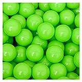 LittleTom 50 Bälle für Bällebad 5,5cm Babybälle Plastikbälle Baby Spielbälle Grün