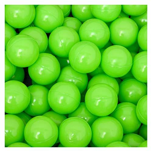 LittleTom 50 Baby ballenbak ballen - 5.5cm ballenbad speelballen voor kinderen vanaf 0 jaar Groen