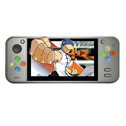 X7 upgrade Handheld Game Console 5.0 inch HDMI Video Game 8G Built-in 200 Handheld Game Console MP4 MP5 Player (gray)
