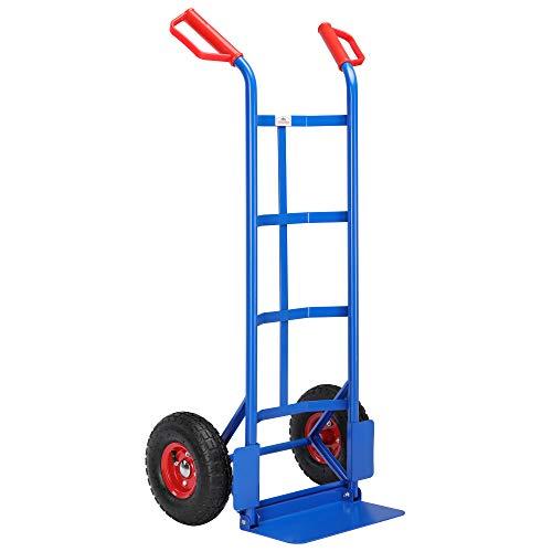 Gardebruk Carrello portacasse pieghevole portata fino a 200kg ruote pneumatiche portapacchi portasacchi