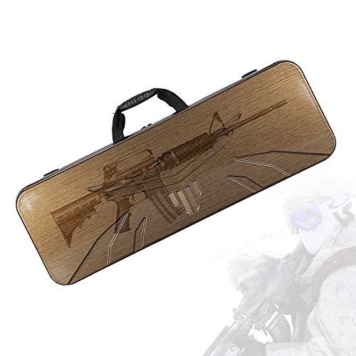 TBDLG Maletas Rigidas, Maletin Rigido Rifle con Impermeable y Resistente Al Desgaste, Protección de Esponja, Base Resistente Al Desgaste, Estuche de Pistola Táctica para Pesca, Caza,Marrón,90C
