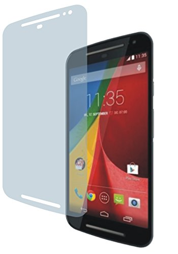 4ProTec I Motorola Moto G2 XT1068 (4 Stück) Premium Displayschutzfolie Bildschirmschutzfolie kristallklar - Kratzfest UND PASSGENAU
