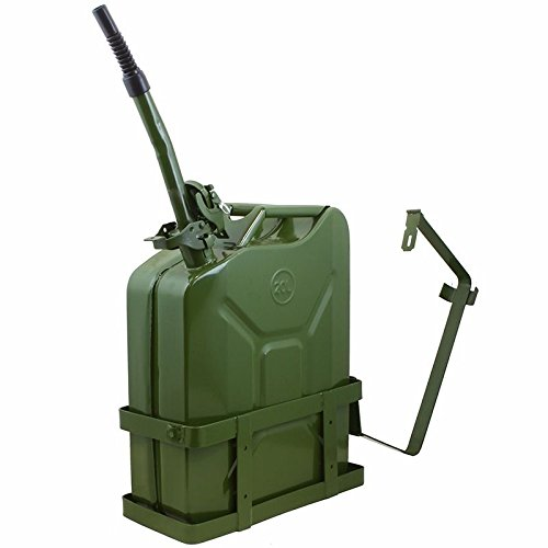 COLIBROX 5 Gallon 20L Can Gas Diesel Fuel Steel Tank Green Holder mount NATO Style