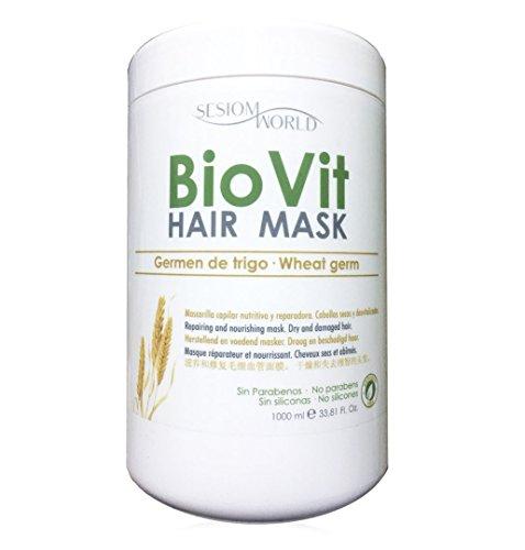 Mascarilla capilar BIOVIT Germen de trigo nutritiva cabellos secos sin parabenos ni siliconas 1000ml sesioMWorld®
