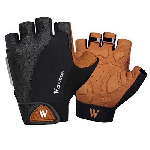 ABOOFAN 1 par de guantes de motocicleta antideslizantes guantes de equitación guantes de absorción guantes de motocross Racing tamaño L varios colores