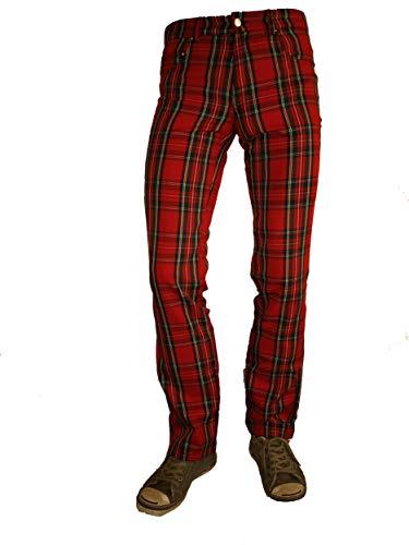 Rock Rag - Tartan Hose, Farbe: Rot, Größe: 30