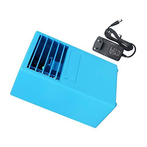Desktop-Luftkühler Sommer Home Desktop Luft Bürotischluftkühlung-Ventilator Ventilator mit 3 Windgeschwindigkeiten, Blau, EU-Stecker