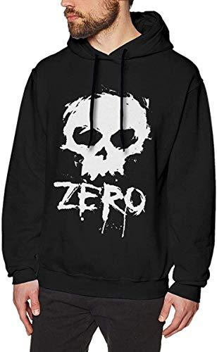 Herren Kapuzenpullover Zero Skateboards Fashion Men's Hat and Pocketless Sweater Black