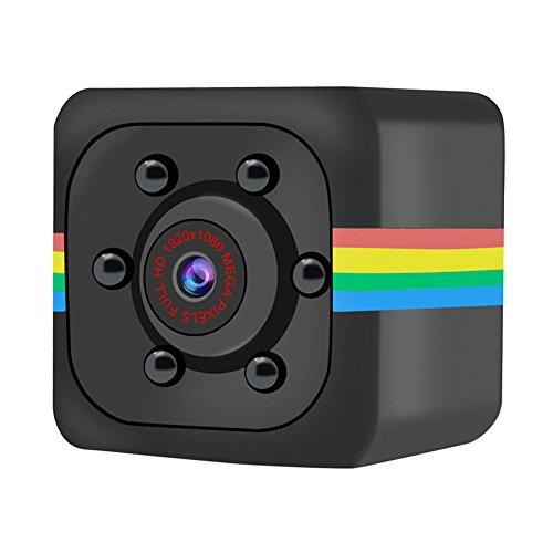WARMTOWER SQ11 - Minicámara de Alta resolución, visión Nocturna, Mini Grabador de vídeo, vigilancia de Seguridad para el hogar