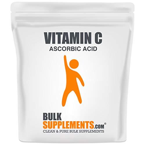 BulkSupplements.com Vitamin C Powder - Pure Ascorbic Acid (1 Kilogram - 2.2 lbs - 1333 Servings) Non-GMO - Gluten Free