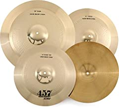 "4-piece Cymbal Set with 10"" Splash 14"" Hi-hats 16"" Crash"