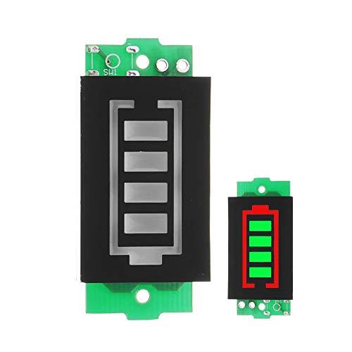 Landa tianrui DIY Electronic kit 2ST - 1S / 2S / 3S / 4S Lithium-Batterie-Satz-Energien-Anzeigetafel Elektrofahrzeug Batterieanzeige 4V / 8V / 12V / 16V Stromspeicher (Farbe : Green)