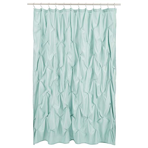 Amazon Basics Pinched Pleat Bathroom Shower Curtain - Sea Foam Green, 72 Inch